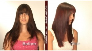 chromastics ombre before after