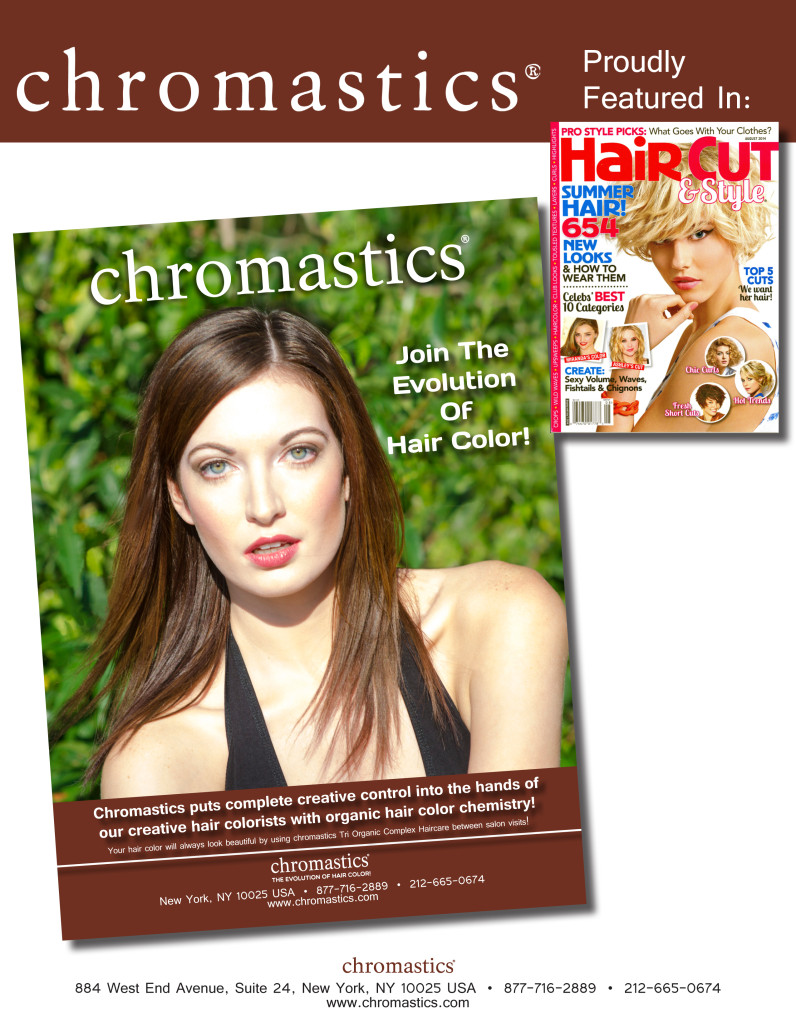 Chromastics Hair Color in the August 2014 issue of Hair Cut & Style