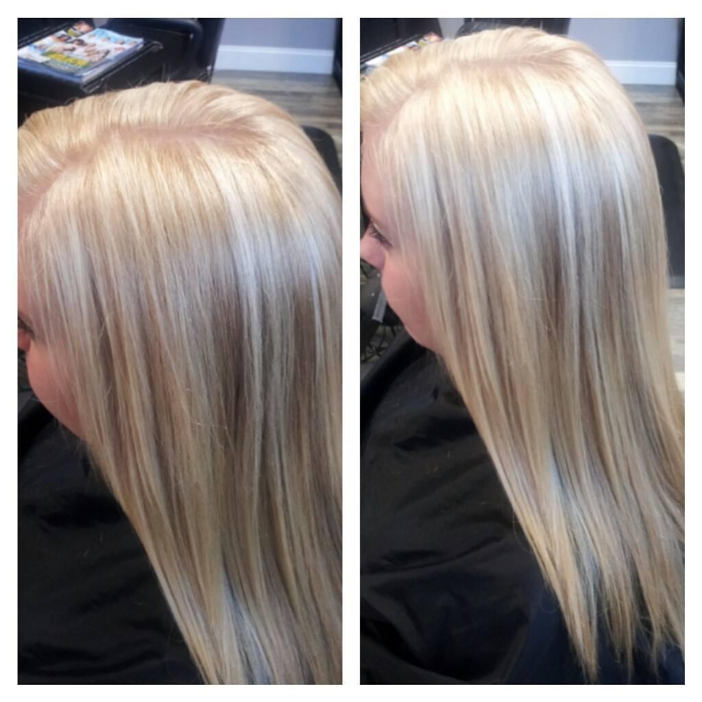 Allover Blonde using chromastics lightening cream