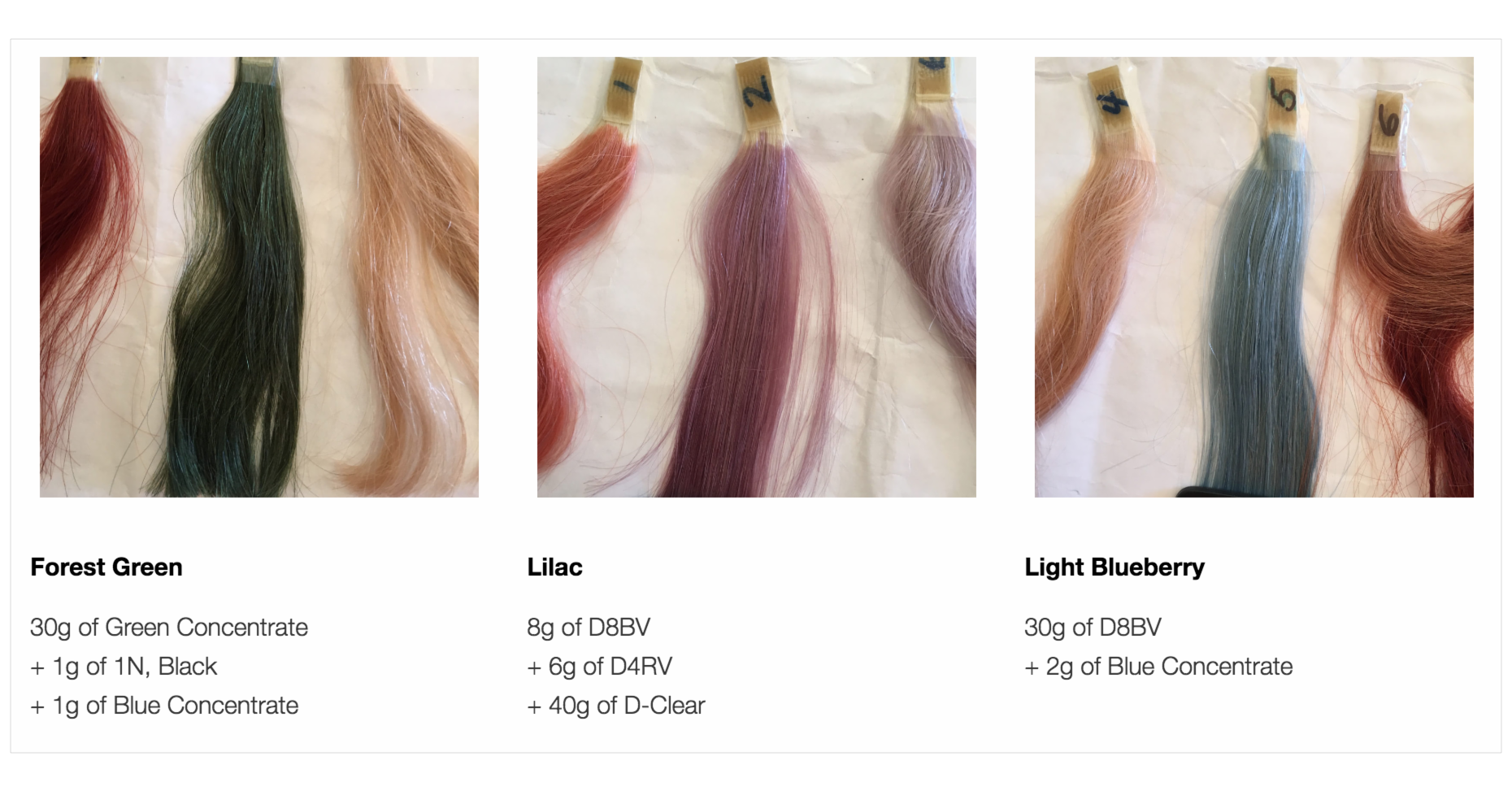 Accent Colors For Green Accent Colors Forest Green Lilac Light Blueberry Hair Color